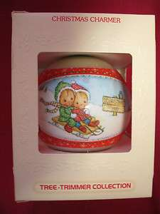 HALLMARK Glass Ornament CHRISTMAS CHARMER 1980 Tree Trimmer Collection