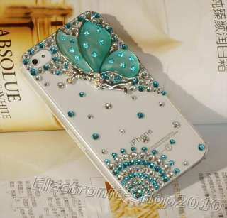 Handmade 3D Bling *Butterfly* Swarovski Crystal Case Cover For iPhone