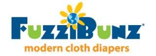 Fuzzibunz Fuzzi Bunz OS Cloth Pocket Diaper & 2 Minky Inserts NEW
