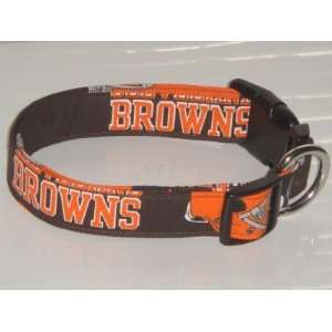 NFL Cleveland Browns Football Dog Collar Medium 1