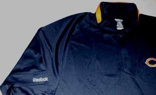 Chicago Bears Sideline Polo Shirt Medium Navy Reebok