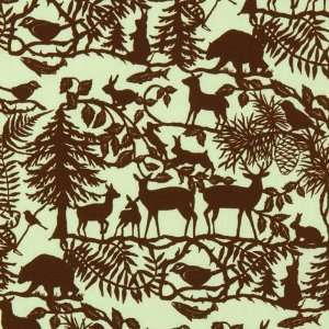 green forest animals fabric Into The Woods USA designer
