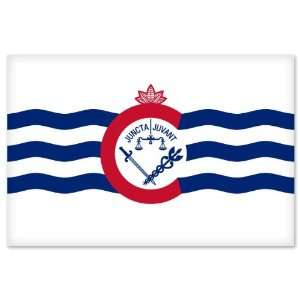 Cincinnati Ohio City Flag car bumper sticker window decal