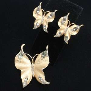 Alfred Philippe for Trifari Butterfly Set Pin Brooch Earrings Book