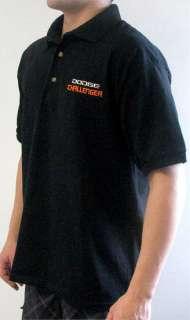 Dodge Challenger Mens Black Polo Shirt GST CHPS 65