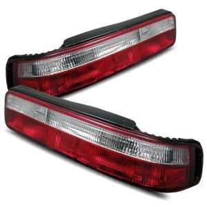 90 93 Acura Integra 2Dr Red/Clear Tail Lights Automotive