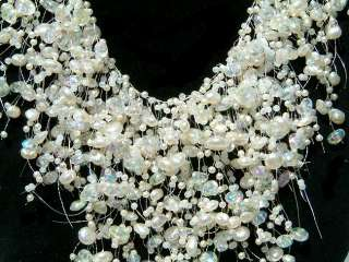 WATERFALL Bridal Wedding Faux Pearl choker NECKLACE new
