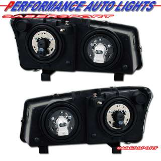 03 06 SILVERADO BLACK HEADLIGHTS + LED PARK SIGNAL 4PCS