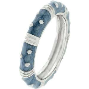 Stacker 14k White Gold Plated Light Blue Ring Size 5