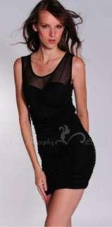 Cloris Murphy Women Sexy Padded Cocktail Dress CMC187 BK