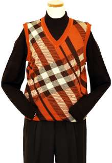 Rust/Brown/Beige Knitted Sweater Vest ARC 707PE   Click Image to Close