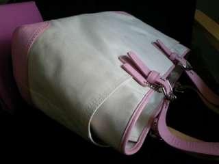 COACH SOHO CREAM ROSE PINK TRIM MULTI BABY DIAPER BAG