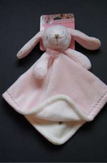 Blankets & Beyond Pink Bunny Rabbit lovey security lovey