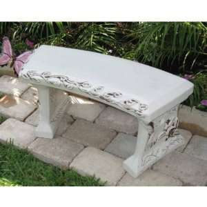 Concrete Garden Bench Patio, Lawn & Garden