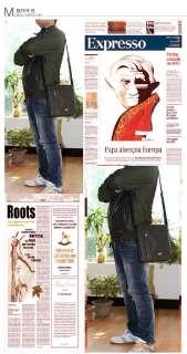 Mens PU leather Messenger/Shoulder/Briefcase/Satchel BAG Brown 032