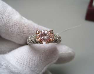 71ct GIA Certified Fancy Pink Round Diamond Ring