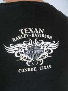 Harley Davidson Motorcycles Unisex Conroe Texas Tee XL