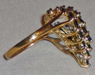 Sapphire and diamond cocktail ring, 14 Karat gold