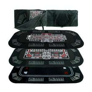 in 1 Poker/Craps/Roulette Tri Fold Table Top