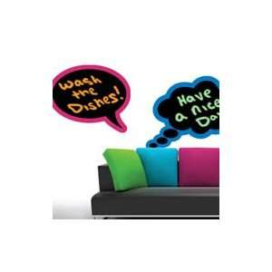 Color bubble thoughts chalkboard wall stickers