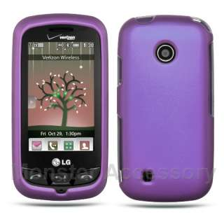 Purple Hard Case Cover LG Cosmos Touch VN270 Accessory