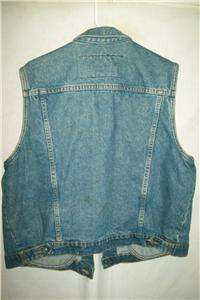 Harley Davidson Motorcycle Cotton Denim Vest, Womens XLarge