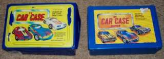 Matchbox Hot Wheels Car Cases with 14 Various Diecast Cars