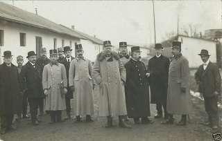 WWI AUSTRO HUNGARY GROUP OF MEN, UNIFORM PHOTO POSTCARD