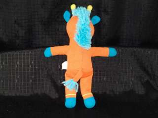 Amy Coe Orange Giraffe Sock Monkey Plush Stuffed Animal