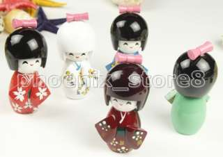 cuce 5pcs Japanese Creative Kokeshi Doll