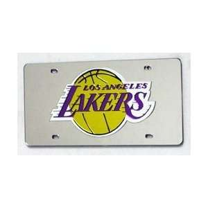 LOS ANGELES LAKERS LASER CUT AUTO TAG