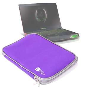Splash Resistant Purple Neoprene Laptop Case For Alienware