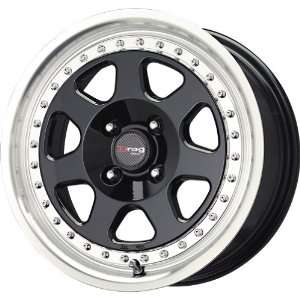 Drag D27 Gloss Black Machined Wheel (15x7/4x100mm