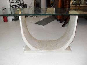 MID CENTURY ARTDECO STYLE CULTURED MARBLE CONSOLE TABLE