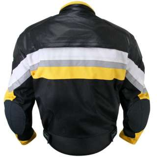 new updated Mens Black and Yellow Tri Tex Fabric and Leather Jacket