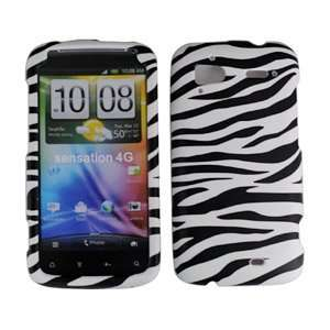 Tmobile HTC Sensation 4G Accessory   White Black Zebra