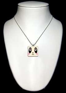 Cute Panda Kawaii Animal Glass Pendant Necklace 335