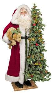 Ditz FATHER CHRISTMAS 5 foot tall SANTA Christmas Bells w/Tree
