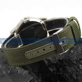 Classical Land Force Colonel Men Military Army Sport Canvas Wrist