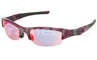 Oakley Flak Jacket Sunglasses Damson/Light +Red Iridium Asian