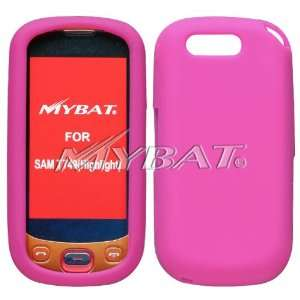 SAMSUNG HIGHLIGHT T749 HOT PINK SOLID SILICONE SKIN RUBBER SOFT CASE