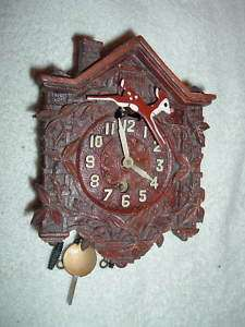 Lux Rudolph Red Nosed Reindeer Pendulette Clock RARE