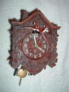 Lux Rudolph Red Nosed Reindeer Pendulee Clock RARE |