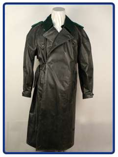 WW2 German Rubberized Motorcycle Coat (Grey green) XL
