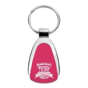 Sacred Heart University   Teardrop Keychain   Red