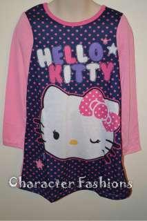 Hello Kitty Nightgown Pajamas pjs Size 4 5 6 6X 7 8 10 12