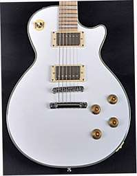 Agile AL 627 White Wide Electric Guitar Baritone Scale w/Case