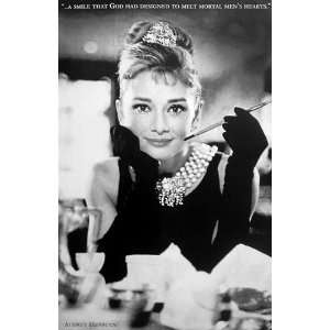 Audrey Hepburn Breakfast At Tiffanys Movie Poster 24 x 36