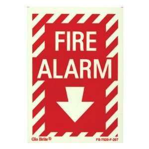 Jessup FS 7520 F 207 Fire Alarm   Sign with Arrow, Photoluminescent