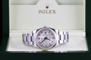 Mens Rolex Silver Jubilee Diamond Dial Datejust 116234